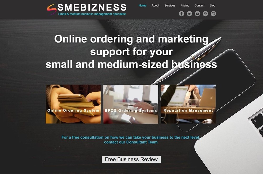 Online ordering and marketing support for your small and mediun-sized business