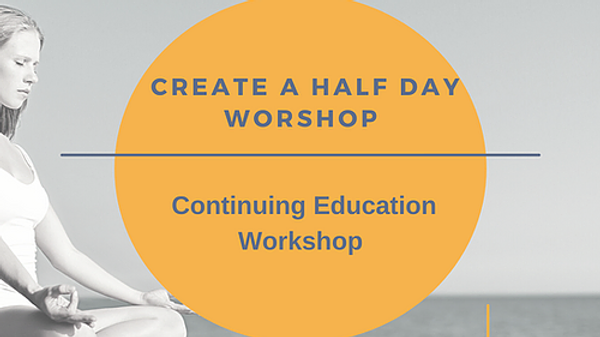 Create a Half-day Workshop