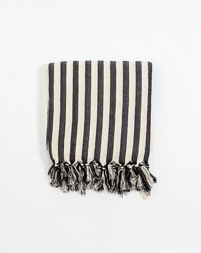 Girit Black Turkish Towel