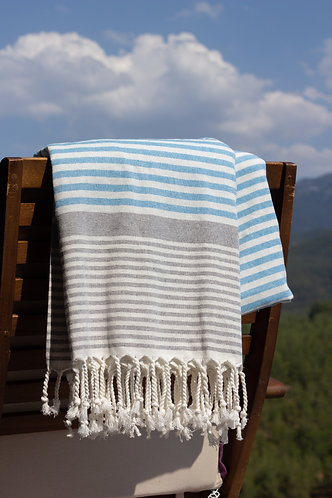 Petit Blue Turkish Terry Towel