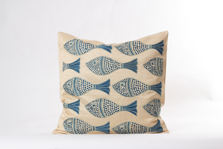 Ivory Suzani Cushion Cover