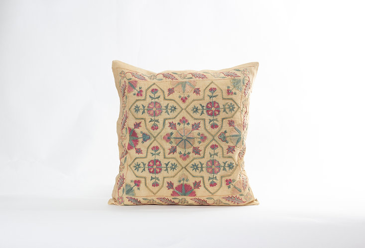 Beige Suzani Cushion Cover