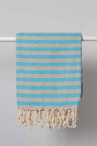 Blue Gray Cunda Turkish Towel