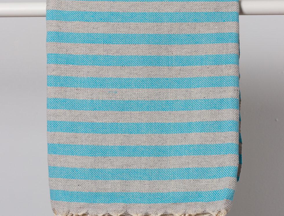 Blue Gray Cunda Turkish Towel