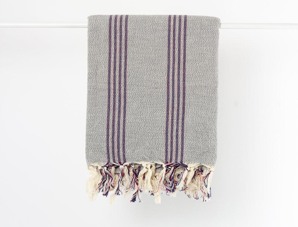 Saka Gray Turkish Towel