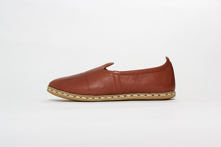 Brown Babayani Leather Shoes