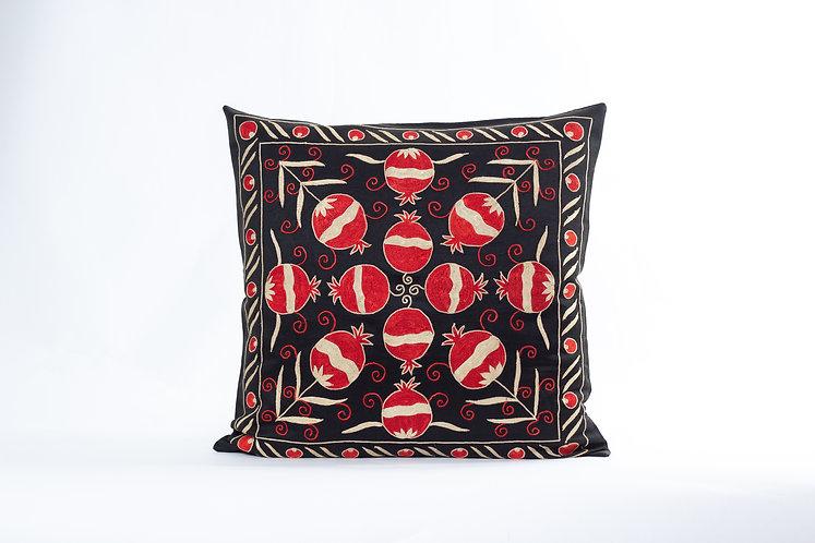 Black Suzani Cushion Cover