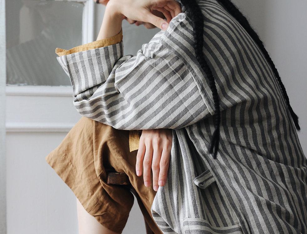 Zebra Gray Robe