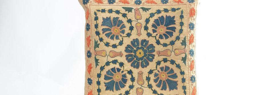 Beige Suzani Cushion Cover