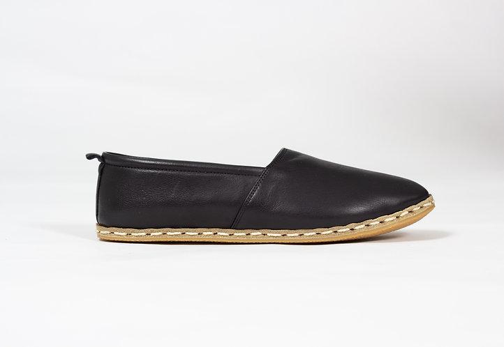 Black Babayani Leather Shoes