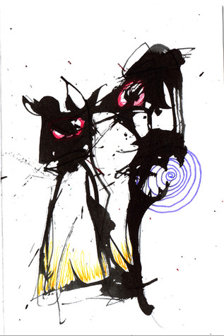 Spiral Ink and paint on paper 2021