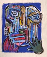 """Missing a Gantlet"", mix media on canvas, 38x48 cm,2020"