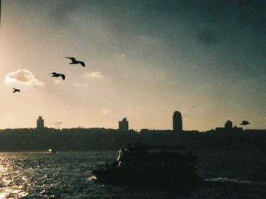 Vapurdan bir sahne, İstanbul 2019 35 mm color film, Photo print