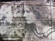 """Jupiter"" Gentle Blues Analogue manuplasyon,  35 mm film, Photo print  Exhibited: July 2015, D.ART 2015 / ARTENOVA, Mechelen, Belgium  April 2015, S & H De Buck Gallery Gent, Belgium"
