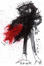 Bıktım Ink and paint on paper 2021