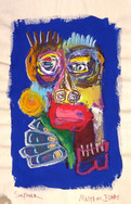"""Sunflower"", mix media on canvas, 32 x 48 cm, 2020"
