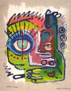 """""""Tattooed Dada"""", mix media on canvas, 35 x 45 cm, 2020"""