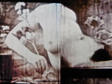 """You - Me - We"" Gentle Blues Analogue manuplasyon,  35 mm film, Photo print  Exhibited: July 2015, D.ART 2015 / ARTENOVA, Mechelen, Belgium  April 2015, S & H De Buck Gallery Gent, Belgium"