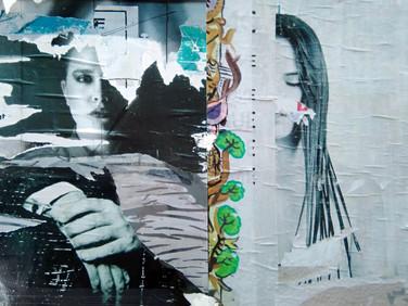 """""""One eye for the blind"""" Connection Bricolage, Photo print Bir araya getirme, Fotoğraf baskı, 2019  Exhibited at """"Bağlantılar""""  3-24 May 2019  Gündogdu ArtGallery, Adana"""
