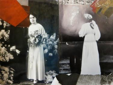 """One face two necks"" Once upon a time... age of love Mixed Media, Photo print Karışık teknik, Fotoğraf baskısı, 2014"