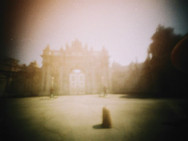 """Dolmabahçe"" Kibrit kutusu pinhole kamera 35 mm renkli film Match box pinhole camera 35 mm color film"
