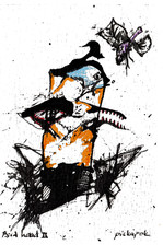 Bird Head 2 Ink and paint on paper 2021