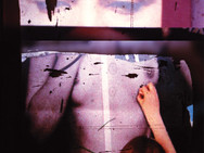 """Eyes on Her"" Homage Found image bricolage Photo Print, 2013"