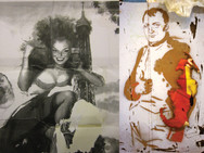 """Comandar"" Homage Found image bricolage Photo Print, 2013"