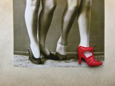 """""""Red Shoe"""" Encounter with a memory Found image bricolage Photo Print"""