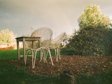 Rainbow for 2 35 mm color film, Photo print