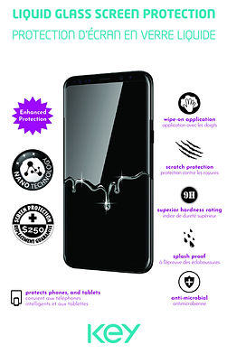 KEY Liquid Glass Screen Protector  envel