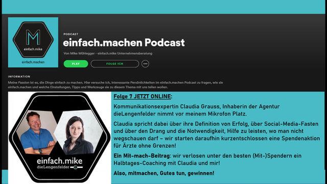 Folge 7 des einfach.machen Podcasts: Claudia Grauss von der Agentur dieLengenfelder vorm Mike