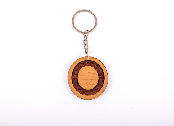 O Letter Keychain