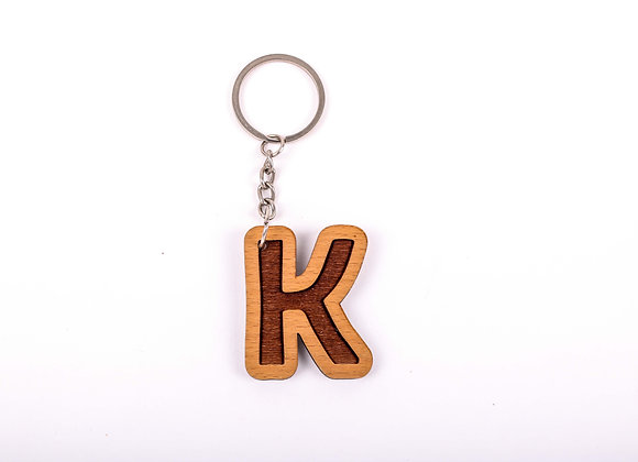 K Letter Keychain