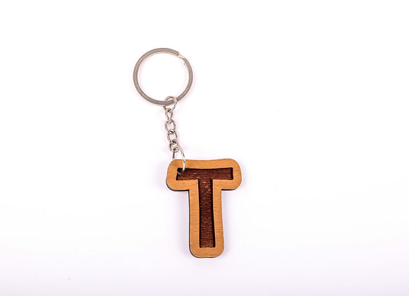 T Letter Keychain