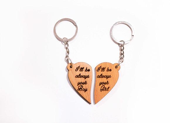 2 hearts Keychain
