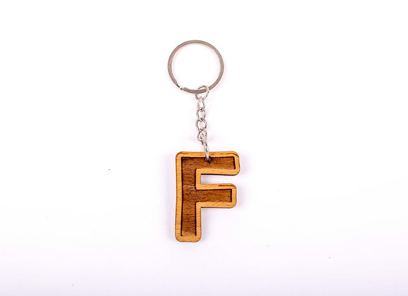 F Letter Keychain