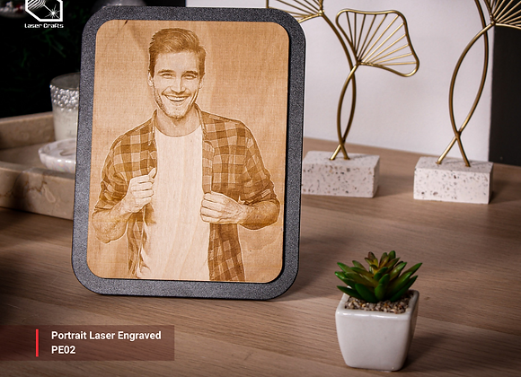 Medium Portrait Laser Engraved