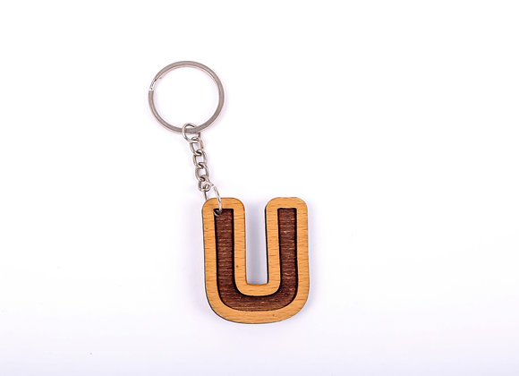 U Letter Keychain