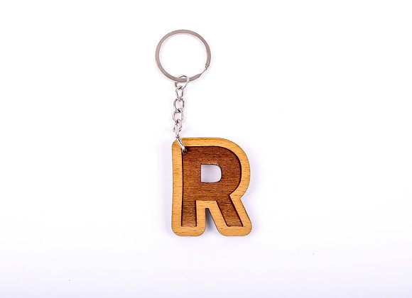 R Letter Keychain
