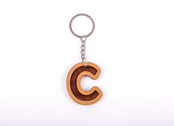 C Letter Keychain