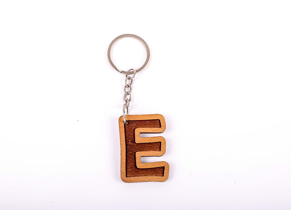 E Letter Keychain