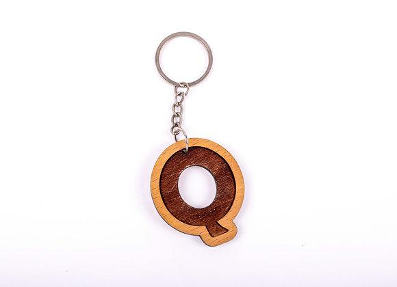Q Letter Keychain