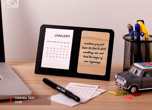 2021 Calendar with Quote