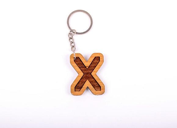 X Letter Keychain