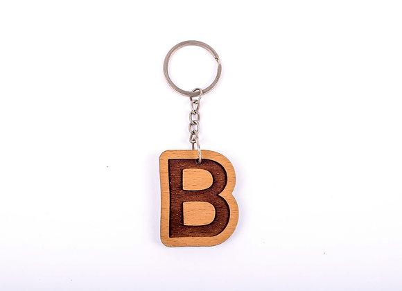 B Letter Keychain