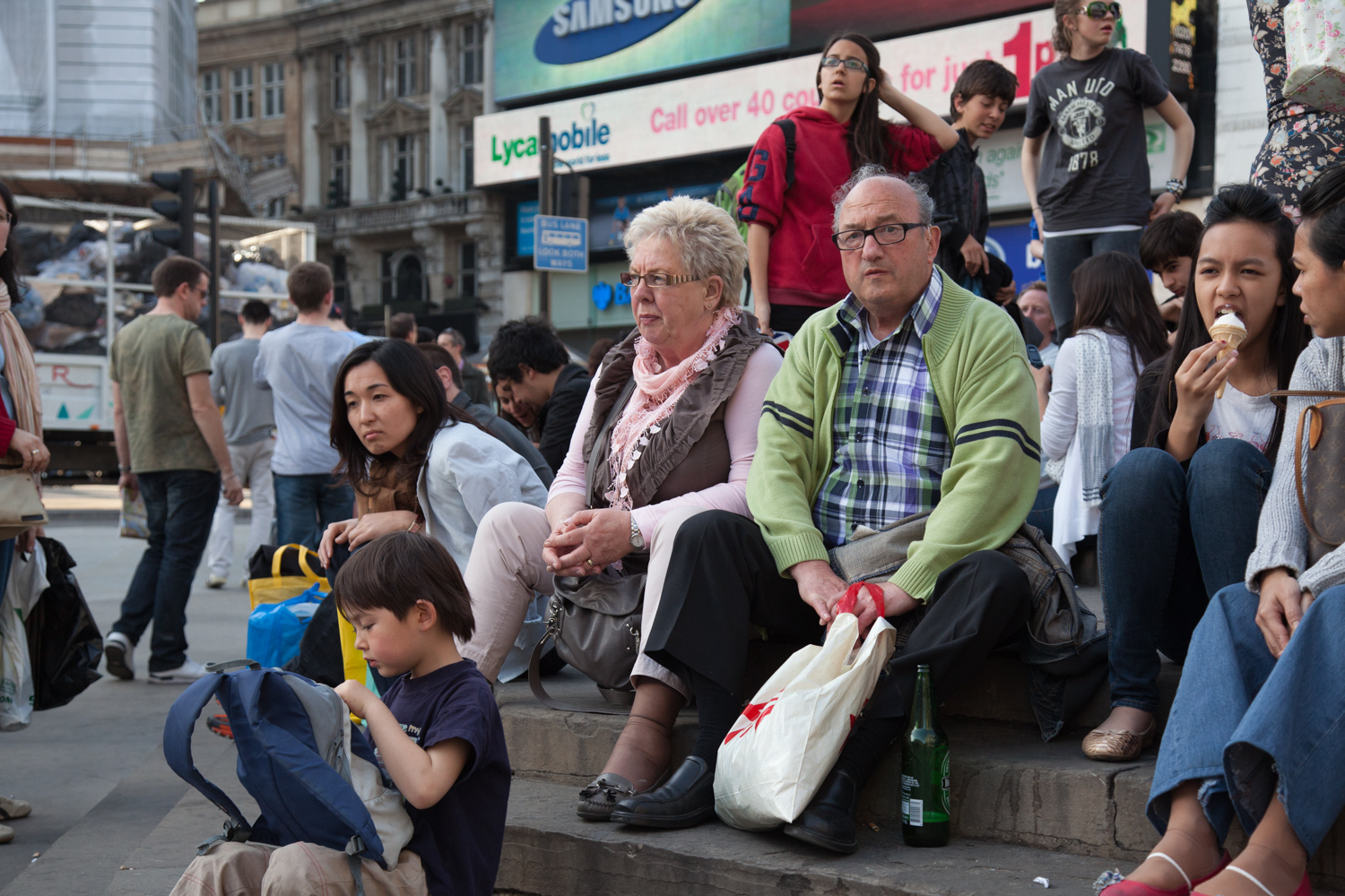 Tourists - Picadilly Circus, London - 2014