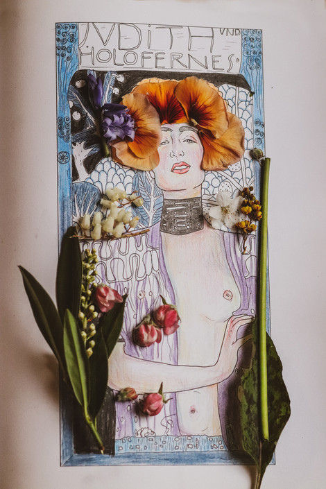 "Tirage d'Art ""Ephémère Judith and Holofernes.Klimt"" Virginie Klock"