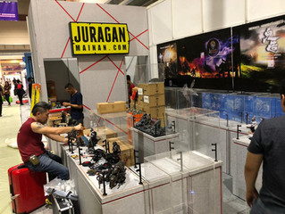 Calvin's Custom setting up at Indonesia Comic Con 2018 on behalf of GATE TOYS