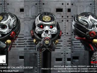 Calvin's Custom X GATE TOYS 1/6 one sixth scale original design cyborg headsculpt BORGHEAD VIPER
